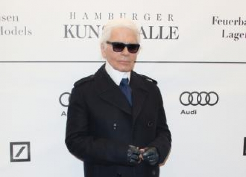 Karl Lagerfeld doesn't sit around