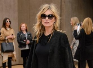 Kate Moss front row at Burberry show