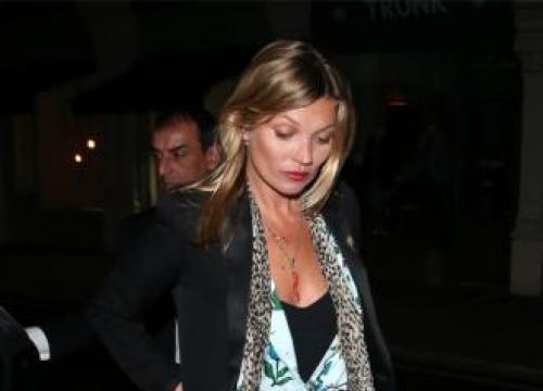 Kate Moss was quiet on flight