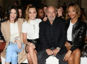Kendall Jenner and Cara Delevingne attend Topshop show