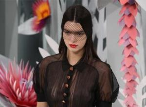 Kendall Jenner goes braless for Chanel