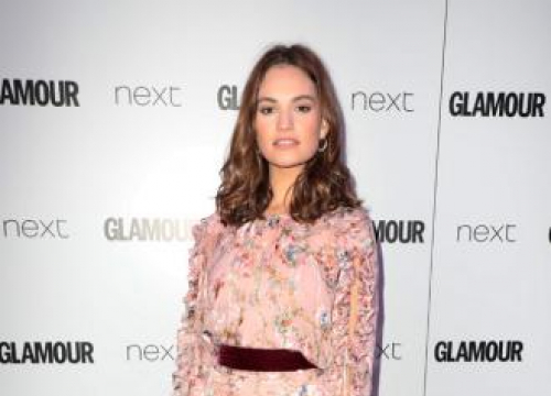 Lily James Always Wears High Neck Tops For Auditions