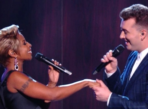 Sam Smith with Mary J. Blige - Stay With Me [Live At The Grammy's 2015] Video