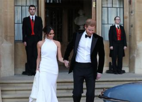 Meghan Markle Wears Stella Mccartney For Evening Reception