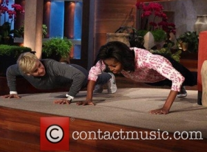 "Michelle Obama and Ellen Degeneres Also Like To Move It, Especially to the Tune of ""Uptown Funk"""