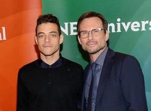 Rami Malek and Christian Slater