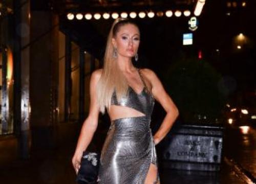 Paris Hilton Attends Grandfather's Funeral