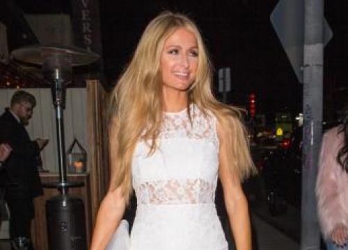 Paris Hilton listens to own songs