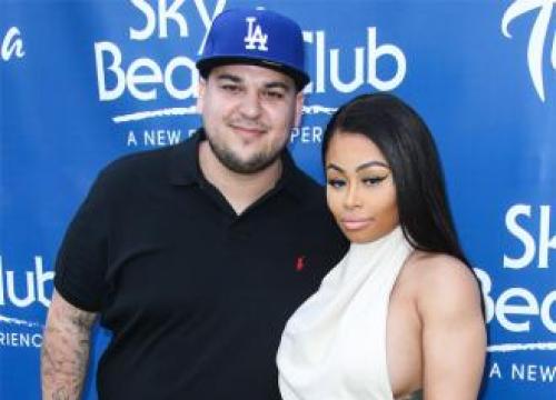 Rob Kardashian And Blac Chyna Go To Strip Club