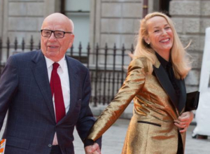 Rupert Murdoch and Jerry Hall