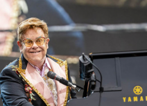 Elton John And Olly Alexander Performing At Brit Awards