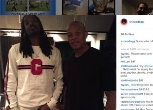 Snoop Dogg and Dr. Dre working on new music