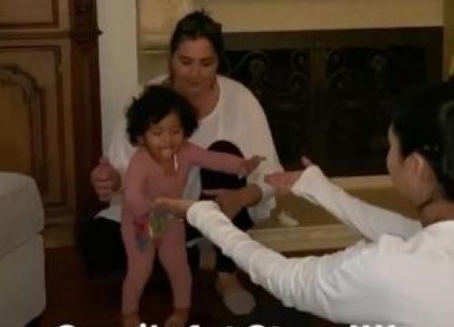 Kobe Bryant's Baby Daughter Capri Takes Her First Steps