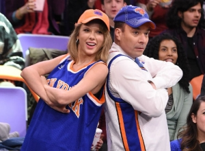 Taylor Swift And Jimmy Fallon Caught On Jumbotron In 'The Tonight Show' Sketch [Photos]