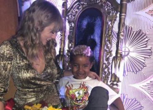 Amber Rose And Wiz Khalifa's Son Meets Taylor Swift