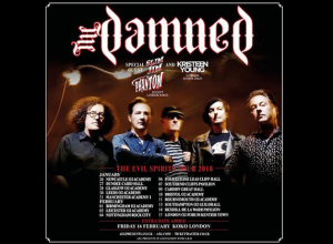 The Damned - Leas Cliff Hall, Folkestone 6.2.2018 Live Review