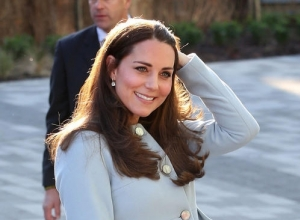 Kate Middleton Pays Royal Visit To The Set Of 'Downton Abbey'