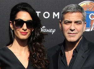 George Clooney And Amal Clooney Bring Style To 'Tomorrowland' Premiere [Photos]