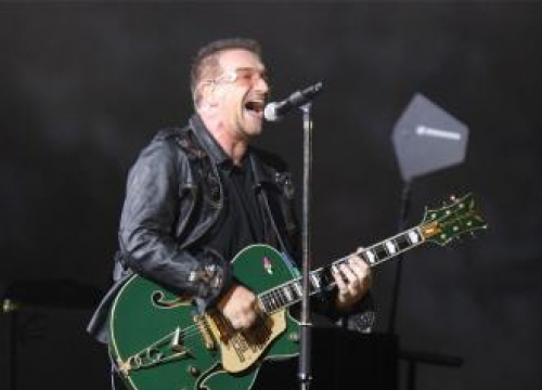 U2'S Bono Makes Up U2 Lyrics