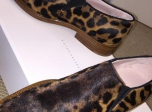 Victoria Beckham 'excited' to unveil leopard print 'clown' shoe