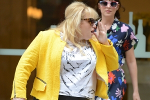 Rebel Wilson Takes Photos With Excited Young Fans