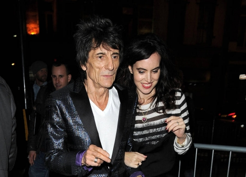 Ronnie Wood And Wife Sally 'Welcome Twin Girls'