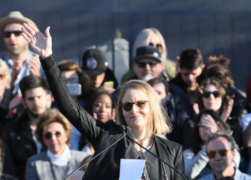 Jodie Foster And Michael J. Fox Lead Anti-donald Trump Rally