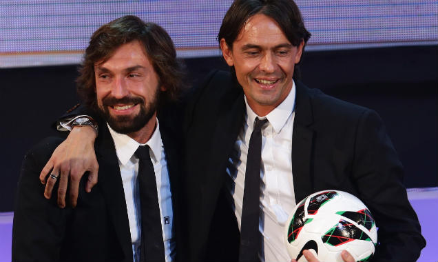 Andrea Pirlo and Pip Inzaghi