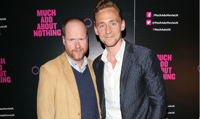 Joss Whedon and Tom Hiddleston