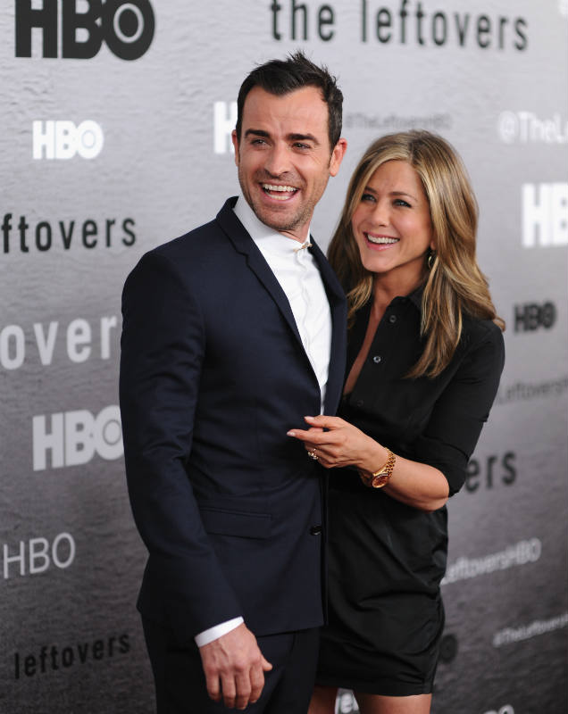 Justin Theroux Jennifer Aniston Leftovers premiere