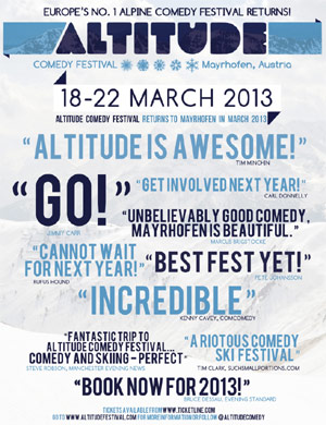 Altitude Comedy Festival 2013 Line-up Announced