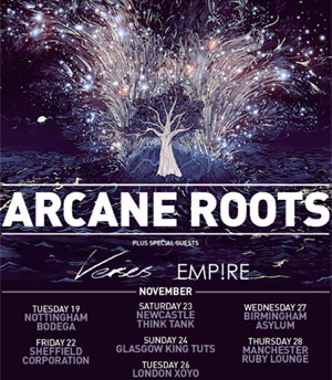 Arcane Roots Announce 2013 Autumn European And UK Headline Tour