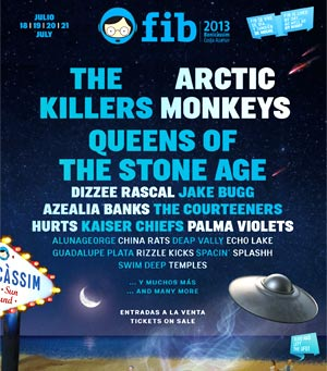 Benicassim Announces New List Of Confirmed Artists For Fib 2013. Dizzee Rascal, The Courteneers And Many More