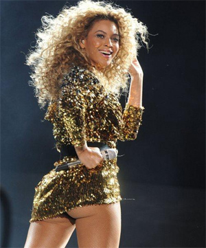 Fan Taps Beyonce's Rear During Concert (Video)