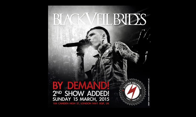 Black Veil Announce 2nd London Show Due To  Demand On 15th March 2015