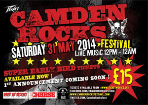 Camden Rocks Festival Announced For Saturday 31st May 2014