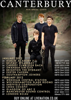 Canterbury UK Tour Dates 2012