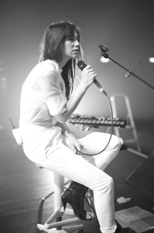 Charlotte Gainsbourg Live At Somerset House With Connan Moccasin On The 19th July 2012