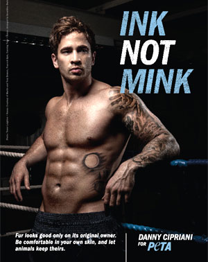 Danny Cipriani Bares His Skin To Help Animals Keep Theirs