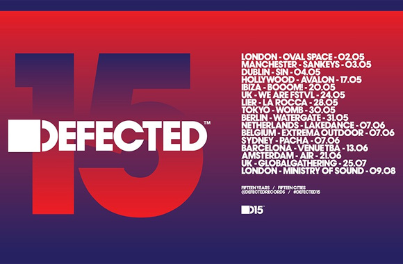 Defected Announces Full Line-ups For Defected 15 Anniversary Club Tour 2014