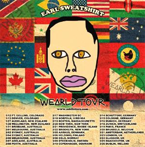 Earl Sweatshirt Announces Wearld Tour 2014