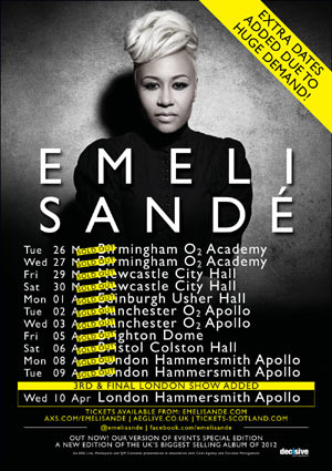 Emeli Sande Announces Third & Final London 2013 Tour Date!
