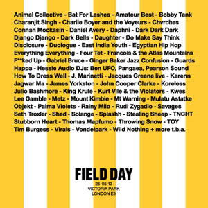 Field Day Festival 2013 New Acts Announced