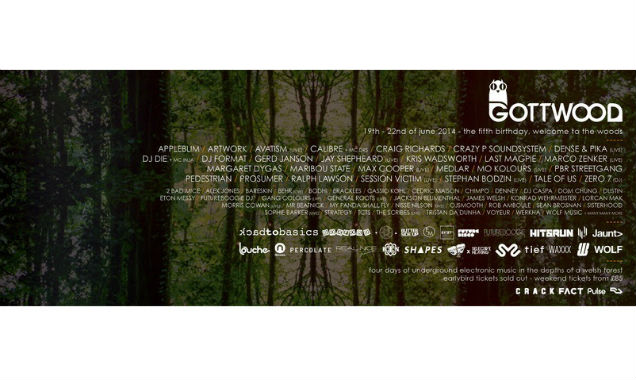Second Wave Of Gottwood Festival 2014 Headliners Announced Including Gerd Janson, Margaret Dygas And Dj Format