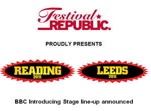 Leeds & Reading Festival Bbc Introducing Stage Line-up Announced 2011