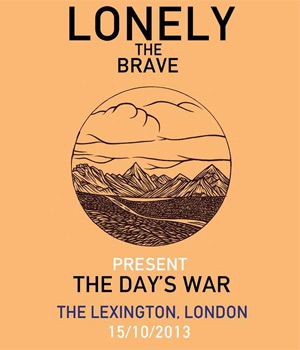 Lonely The Brave Announce Debut London Headline Performance October 15th 2013