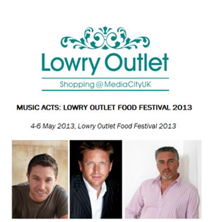 The Lowry Outlet Food Festival 2013 - Music Acts