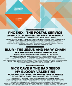 Nick Cave And The Bad Seeds, Phoenix, My Bloody Valentine And Blur Will Be In The Line Up Of Primavera Sound 2013