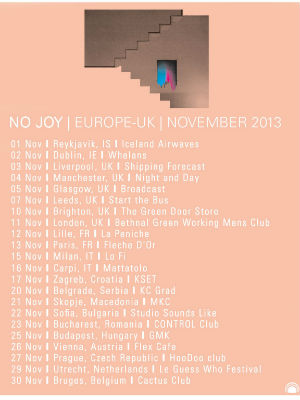 No Joy Announce 'Pastel And Pass Out' Ep And November 2013 UK Dates