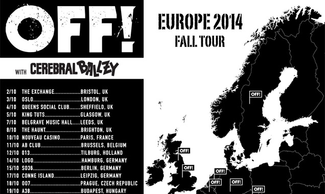 Off! Announce 2014 UK Tour For October  Plus New Album 'Wasted Years'